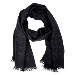 NWT Coach Stole/Scarf in black:silk and wool {nwt}